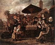 VICTORS, Jan Market Scene with a Quack at his Stall er oil painting artist